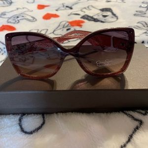 Jessica Simpson square glitter Sunglasse